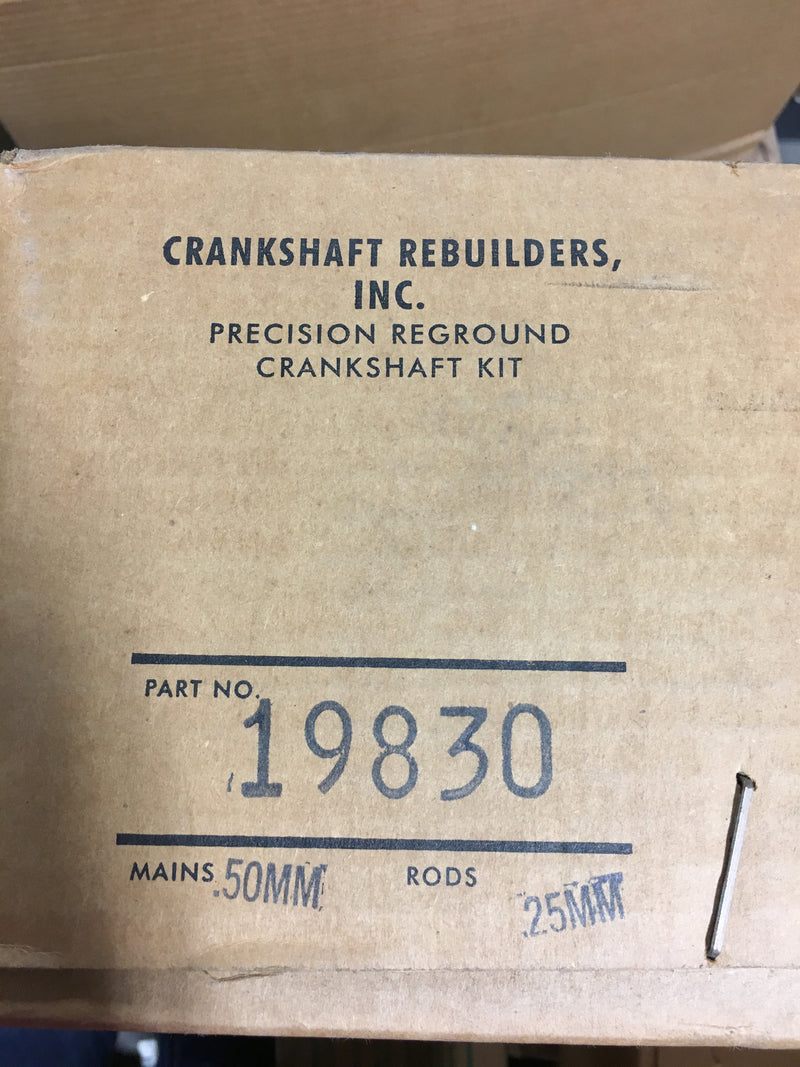 Crankshaft Rebuilders Precision Reground Crankshaft Kit 19830 - Auto Accessories - Metal Logics, Inc.