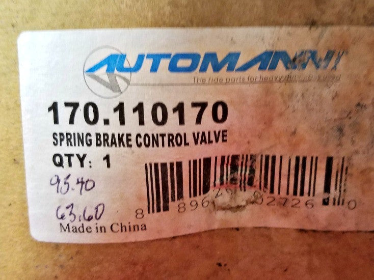 Automann 170-110170 Spring Brake Control Valve - Auto Accessories - Metal Logics, Inc. - 2