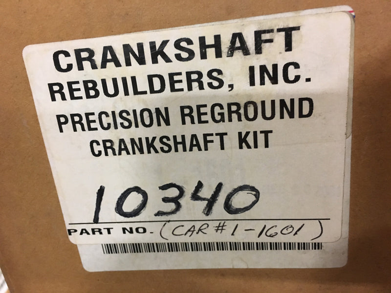 Crankshaft Rebuilders, Inc. Precision Reground Crankshaft Kit 10340 - Auto Accessories - Metal Logics, Inc. - 1