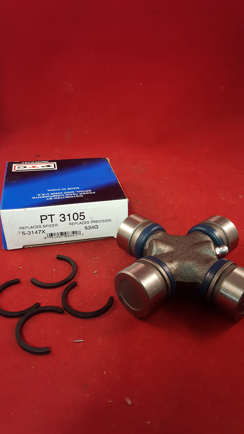 PTC Universal Joint Kit PT 3105 Replaces Precision 534G/Spicer 5-3147X