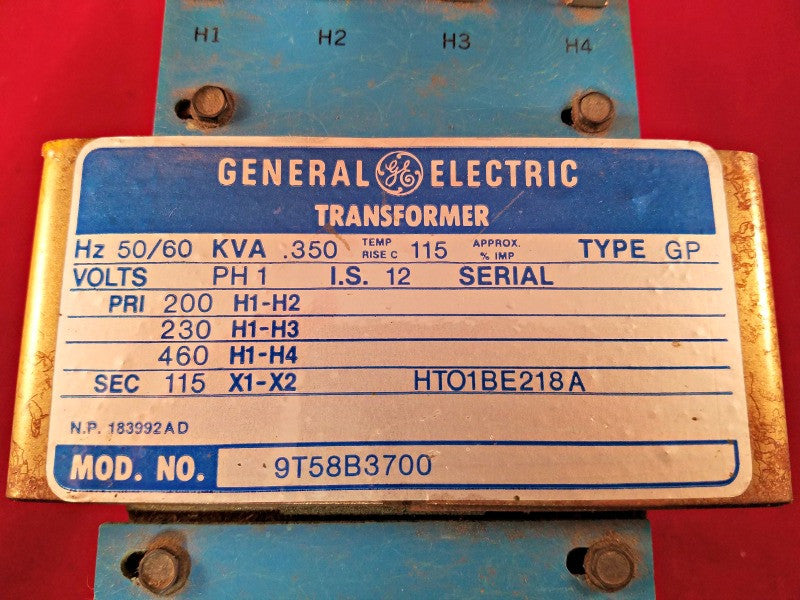 GE Transformer Model 9T58B3700 - Transformers - Metal Logics, Inc. - 3