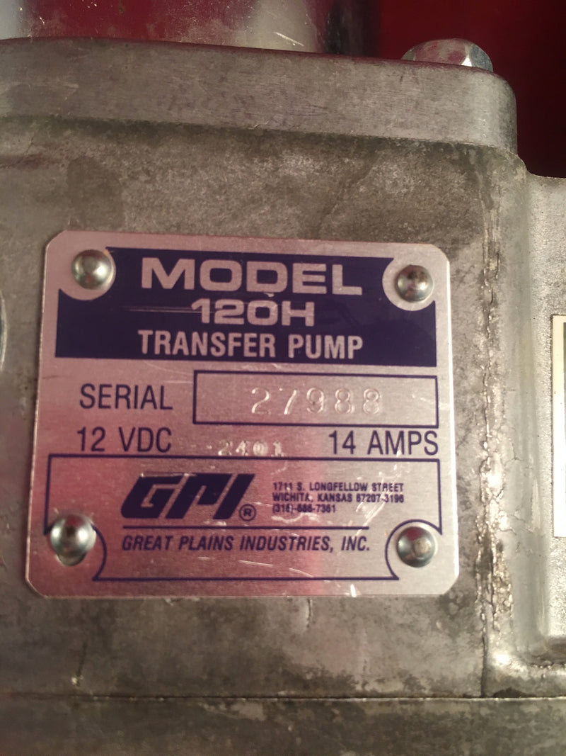 GPI Transfer Pump Model 120H, 14 Amps, 12 VDC - Accessories - Metal Logics, Inc. - 2