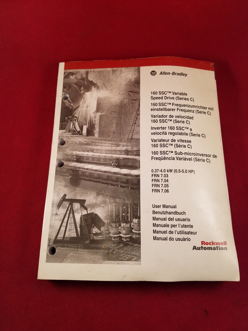 Allen-Bradley 160 SSC Variable Speed Drive User Manual Series C - Books & Manuals - Metal Logics, Inc. - 1