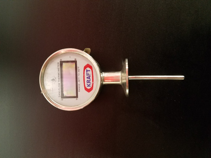 Kraft Sani-Flow Digital Thermometer Range -58 to 302 F - Used