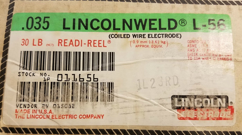Lincoln Electric L-56 Welding Wire 30 lb. Readi-Reel .035 Coiled Electrode