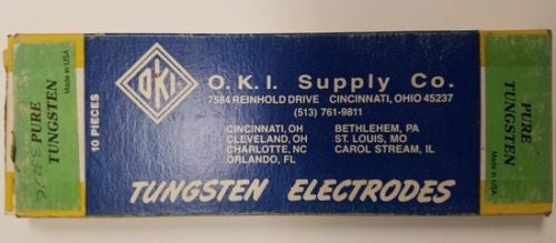 O.K.I. Supply Co. 3/32 x 7 Tungsten Electrodes - 10 pcs. -  - Metal Logics, Inc. - 1