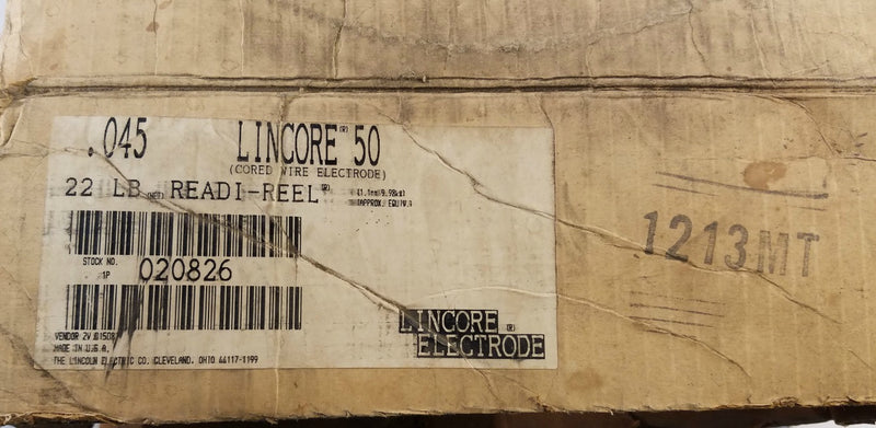 ".045"" Lincore 50 Welding Wire Electrode 22 lb. Readi-Reel Spool"
