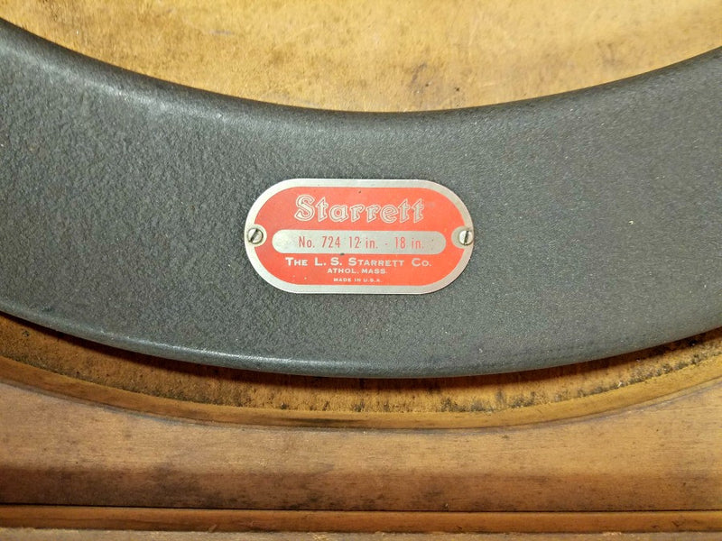 "Starrett No. 724 12"" - 18"" Micrometer Set in Wooden Case"