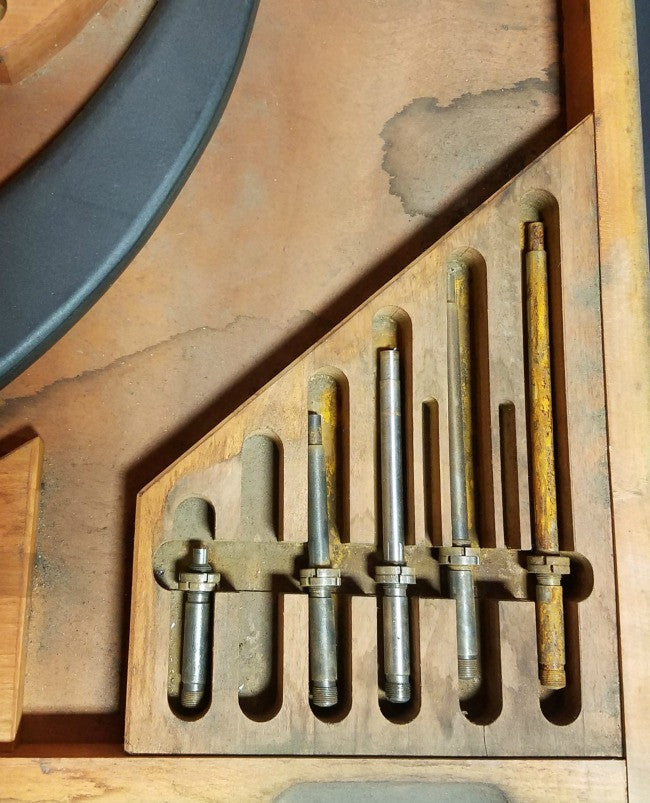 "Starrett 18"" - 24"" Micrometer Set in Wooden Case"