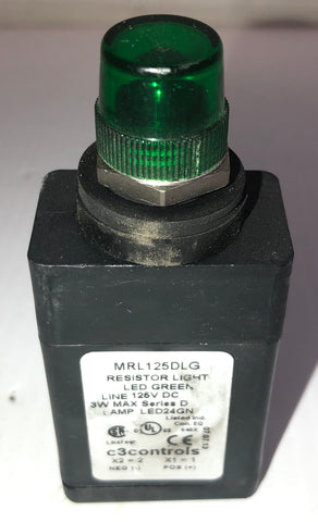 C3Controls MRL125DLG Green Resistor LED Light