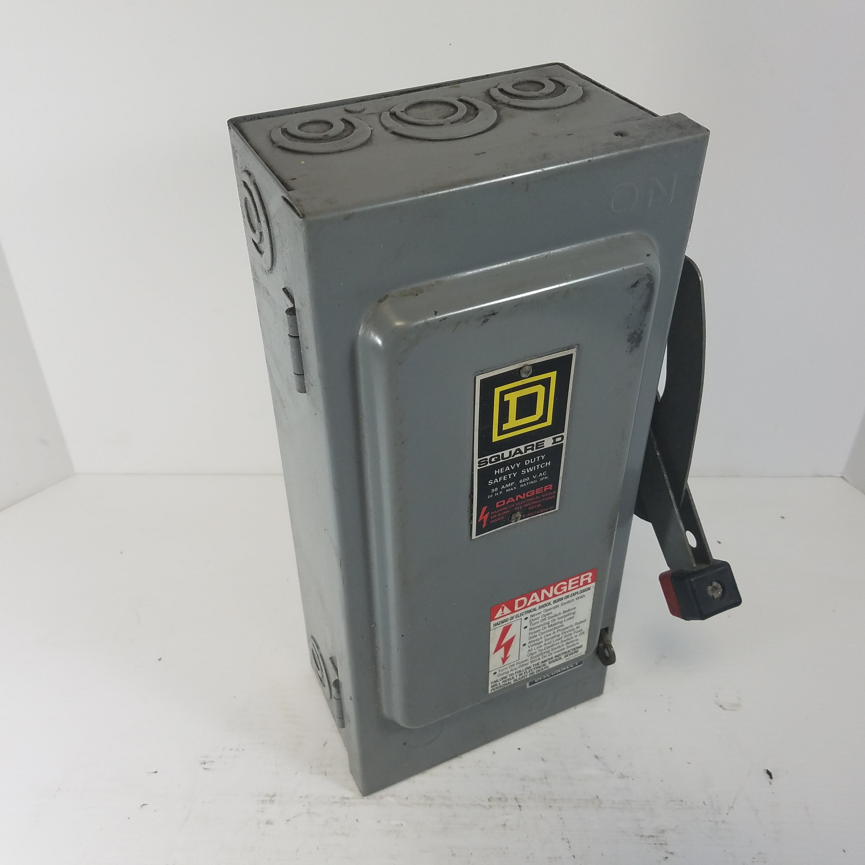 square d h361 heavy duty safety switch with fuses metal logics, incmetal logics, inc