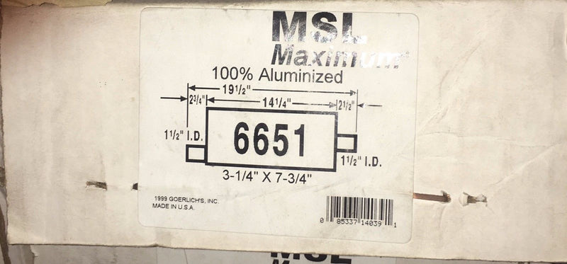 MSL Maximum Muffler AP Exhaust Model 6651
