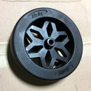"Shelby 6""x2"" Plastic Diamond Spoke Trailer Dolly Wheel with Axel Bearing"