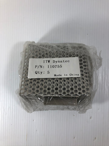Qty. 5 ITW Dynatec 110755 Hopper Filter Cartridges for DynaPack Tank Unit 110700
