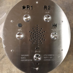 Elevator Car Control Button Pedestal with Keys Stainless Steel