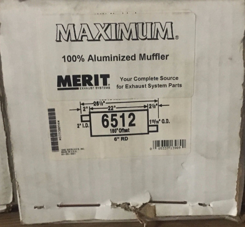 Merit Maximum AP Exhaust Muffler 6512 '90-'92 Ford Ranger