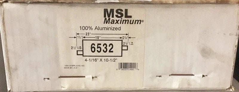 MSL Maximum AP Exhaust Muffler 6532 Fits 87-90 Chevy Blazer, Tahoe, GMC Jimmy