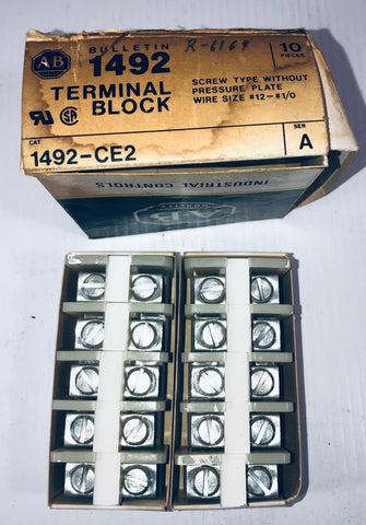 Allen-Bradley Terminal Block Box of 10 1492 -CE2 Series A