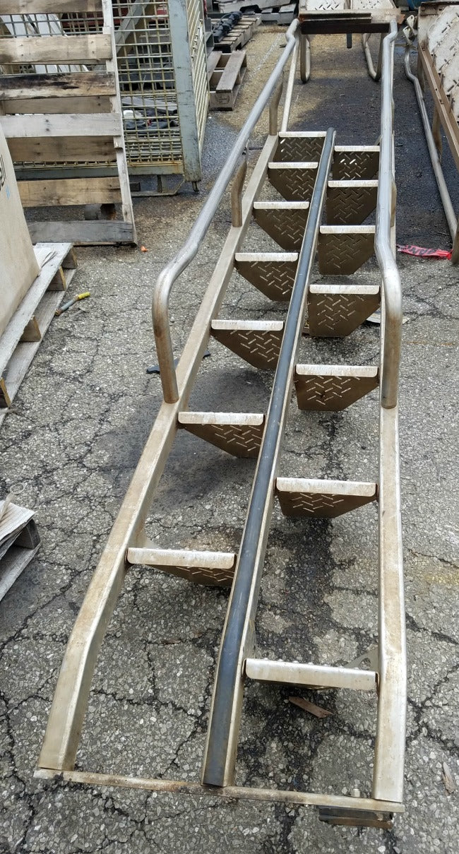 Lapeyre Stainless Steel Alternating Tread Stair Safety Space Saver 14 Step  13u0027 L