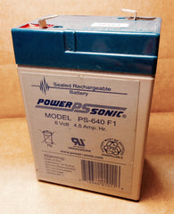 Power Sonic Sealed Rechargeable Battery PS-640-F1