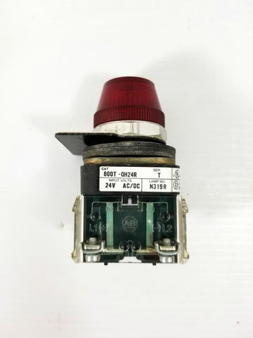 Allen Bradley 800T-QH24R Series T Red Lens Pilot Light 24V AC/DC