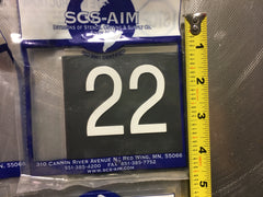 SCS-AIM Elevator Letters and Numbers Set Ceramic 4.5""