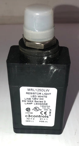 C3Controls MRL125DLW Resistor Light LED White