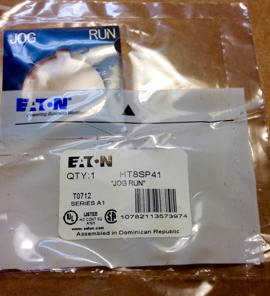 "Eaton HT8SP41 Legend Plate ""Jog Run"" - Accessories - Metal Logics, Inc."