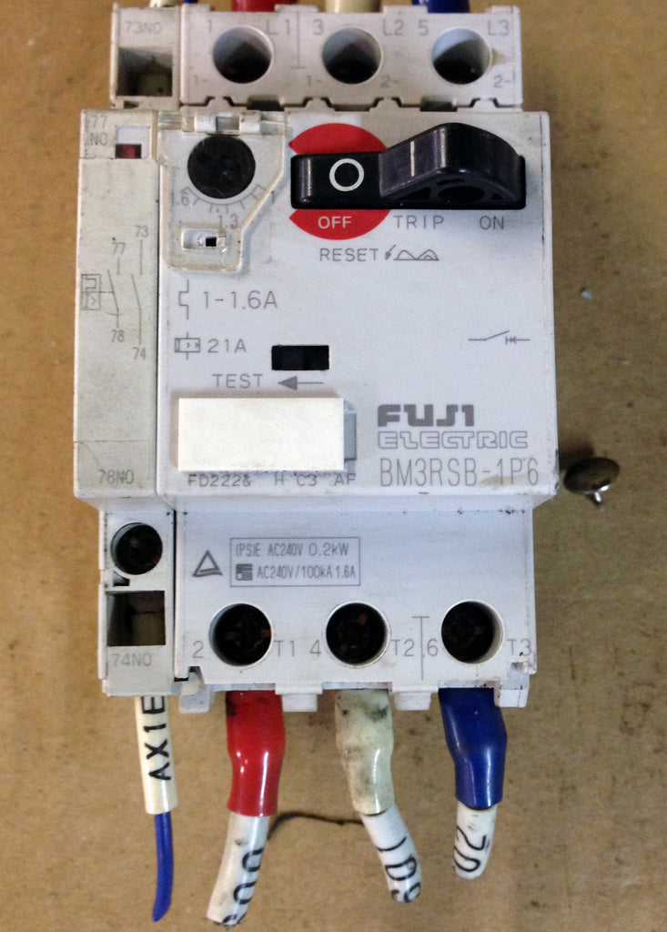 Fuji Electric Manual Motor Starter BM3RSB-1P6 - Controller - Metal Logics, Inc. - 1
