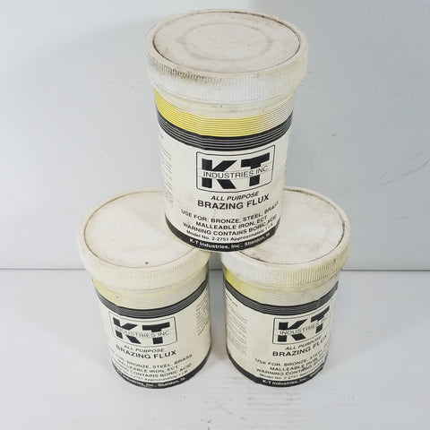 KT Industries Brazing Flux 2-2751 Lot of Three 1 Lb Containers