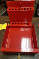 Locking Screwdriver/Pry bar Holder  for Service Cart - Red - Accessories - Metal Logics, Inc. - 1