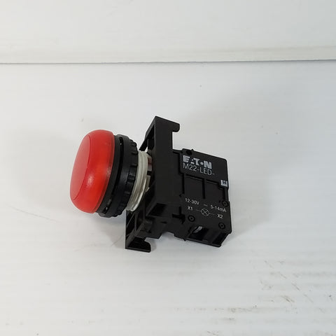 Eaton M22-LED- 12-30V 5-14mA Red Button-Style Light