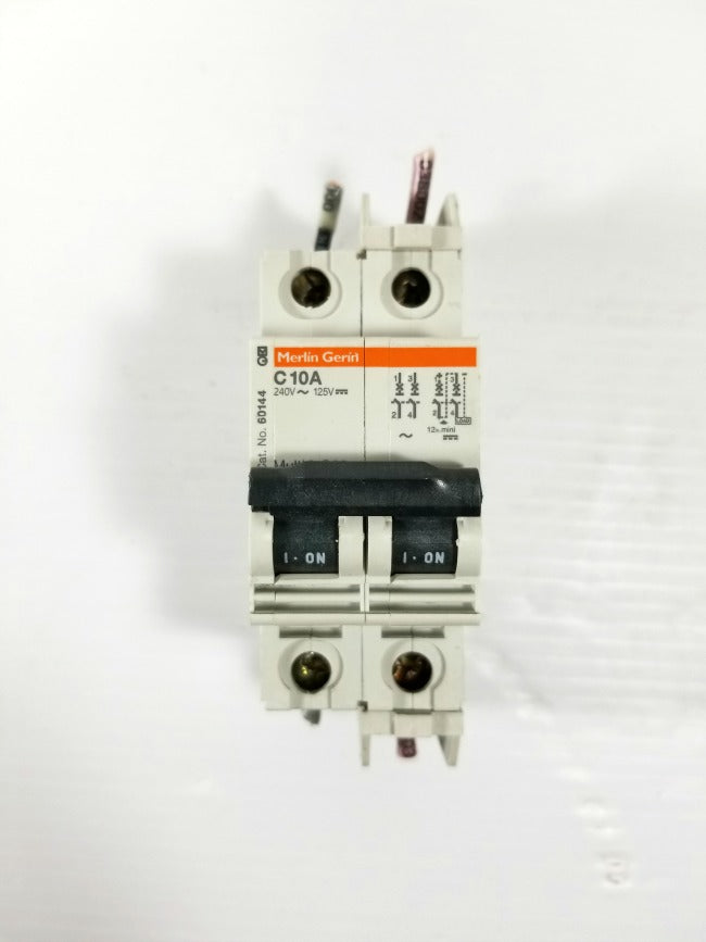 Merlin Gerin C10A 2-Pole Circuit Breaker 240V 60144 Multi 9 C60