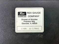 Rex Durometer Gauge 1700 Type A-17985 Vertical Precision Tool with Case