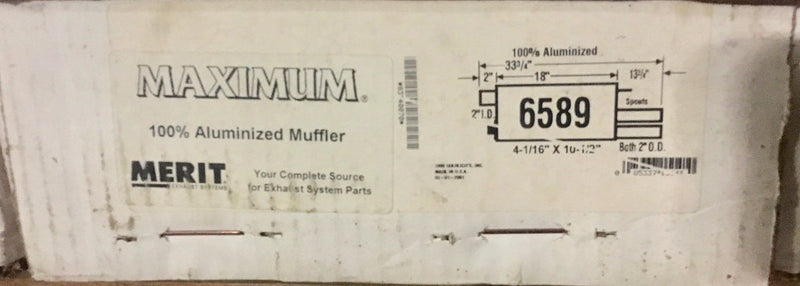 Merit Maximum Muffler AP Exhaust Model 6589