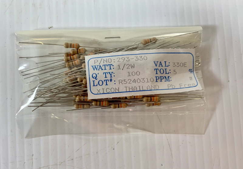 Xicon Film Resistor 293-330 Pack of 100
