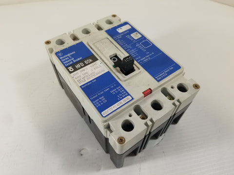 Westinghouse HFD3100 3-Pole 100A Industrial Circuit Breaker