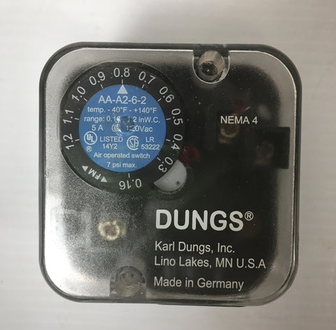 Dungs Air Pressure Switch F6044130 .16