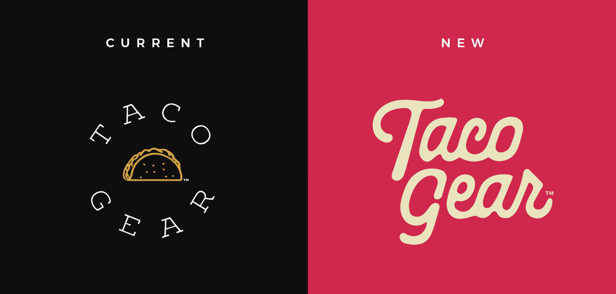 Old and New Taco Gear Logo