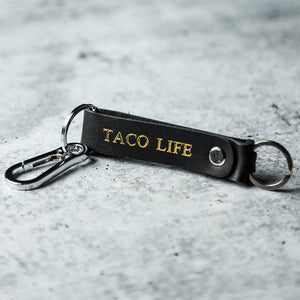 Leather TACO LIFE Key Clip (Black)