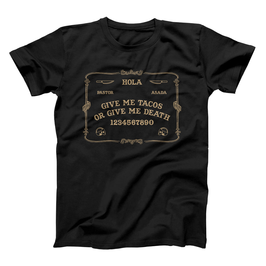 Taco Gear Ouija Board Tacos Shirt Black