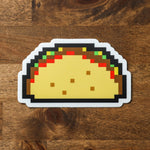 8 Bit Taco Sticker - Taco Gear