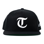 Taco Gear T for Tacos Snapback in Black Front View