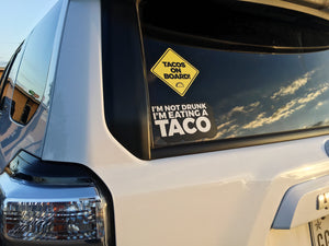 TACOS ON BOARD (Car Sticker) - Taco Gear