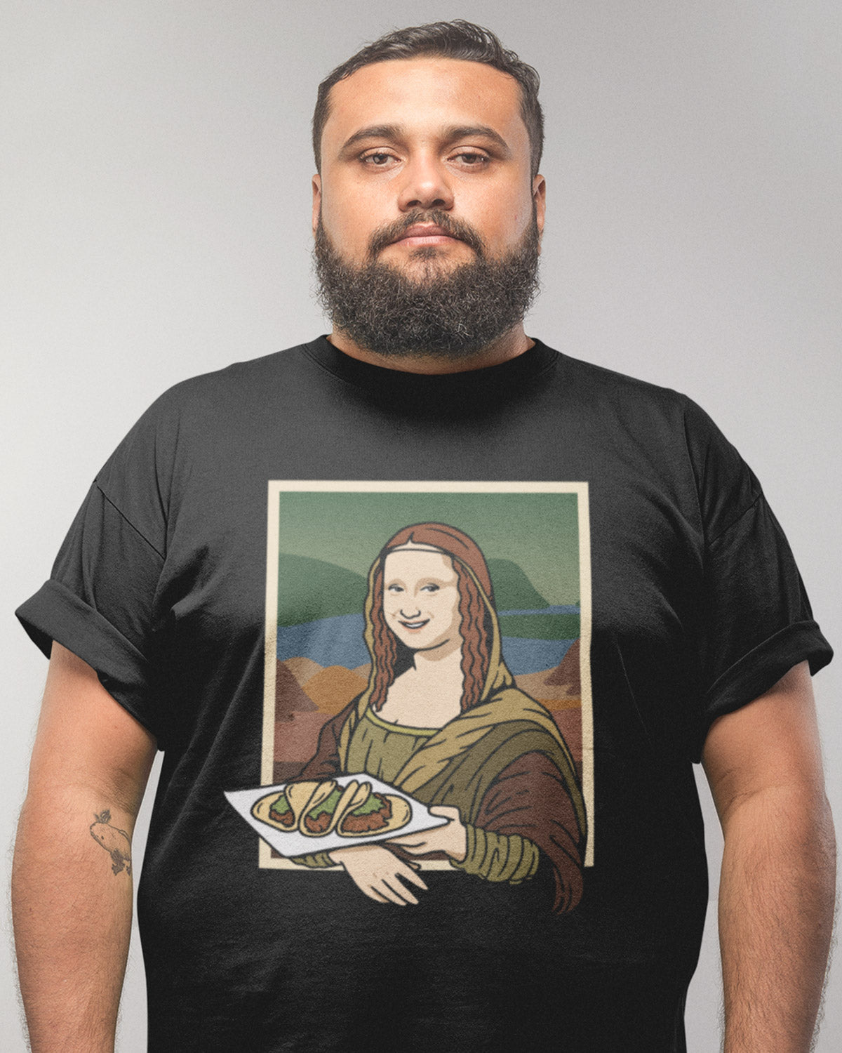 black Taco Lisa Shirt - Taco Gear on model