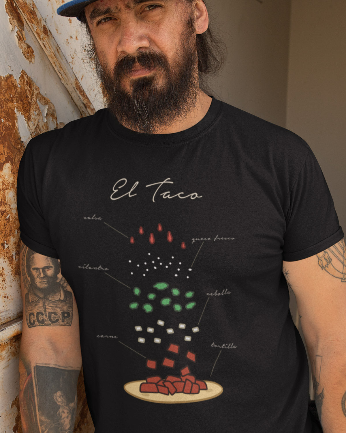 El Taco Elements Shirt on model - Taco Gear