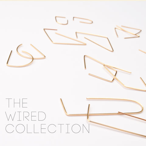 Wired hoop earrings, simply gold by Ash Jewelry Studio