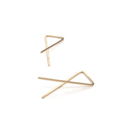 vertex 14k gold filled earrings