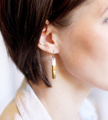 skinny gold bar earrings - ASH Jewelry Studio - 3