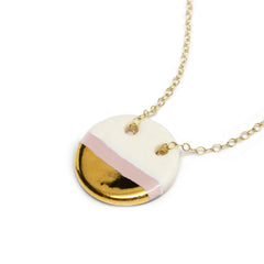 circle necklace in blush pink - ASH Jewelry Studio - 1
